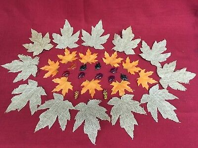"Burlap  Maple Leaf 2 1//2/"" Wired Ribbon Fall Thanksgiving 30 FT DECOR DIY"
