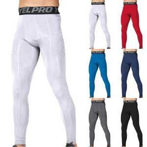 Herren Kompression Sporthose Gym Fitness Leggings Lange Baselayer Trainingshose