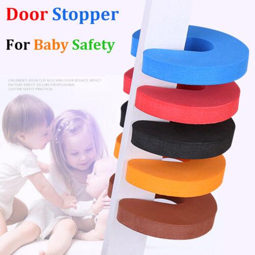 4 STÜCK Weichschaum Türstopper Baby Kids Safety Guard Fingerschutz Türclip