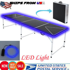 GlowCity Multi-Colored LED Glow Beer Pong Table Kit