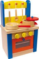 SPIELKÜCHE mit Zubehör HOLZ Kinderküche Küche Rollenspiel Kinder Holzküche NEU!!
