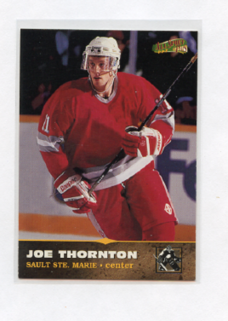 1997 Score Board All Sport Plus 171 Joe Thornton Rookie