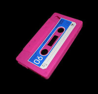 Pink Cassette Tape Silicone Rubber Gel Iphone 4 4s Case Super Fast Shipping