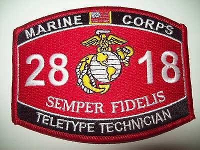 "USMC ""TELETYPE TECHNICIAN"" 2818 SEMPER FIDELIS MILITARY MOS PATCH"