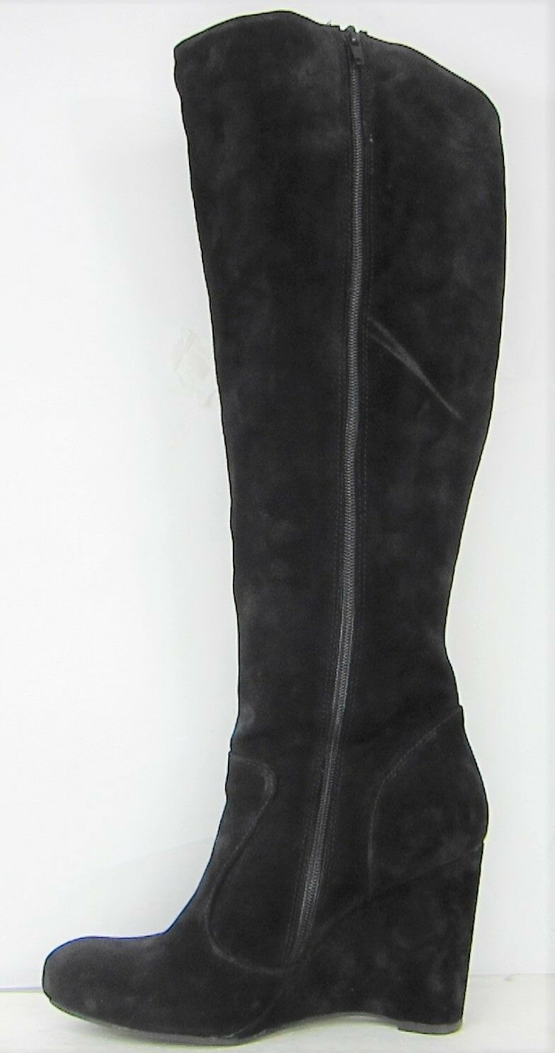 Born botas Negra Olana Crown Collection botas De Cuero Gamuza Negra botas Talla 9.5  275 967750