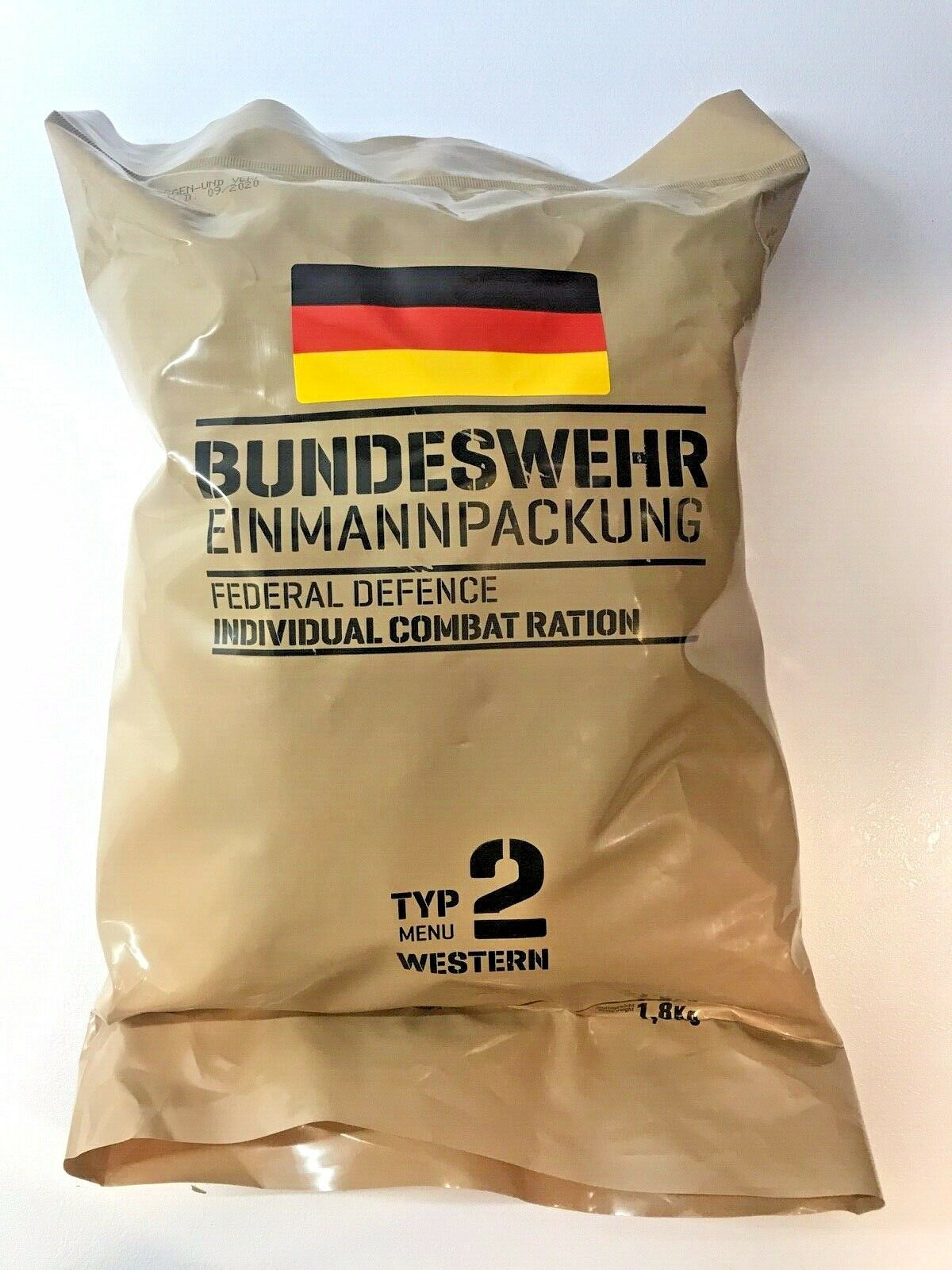 NEW TYP  Germany Military Ration - 24h - (MRE, EPA)  09-2020