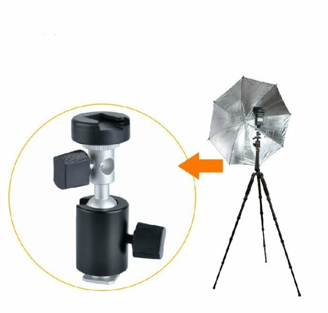 Flash Bracket Hot Shoe Umbrella Swivel Mount Holder adapter for Light Stand Trip