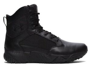 """Under Armour Stellar Tactical 8"""" Side Zip Boots All Sizes Black UA-1303129001"""