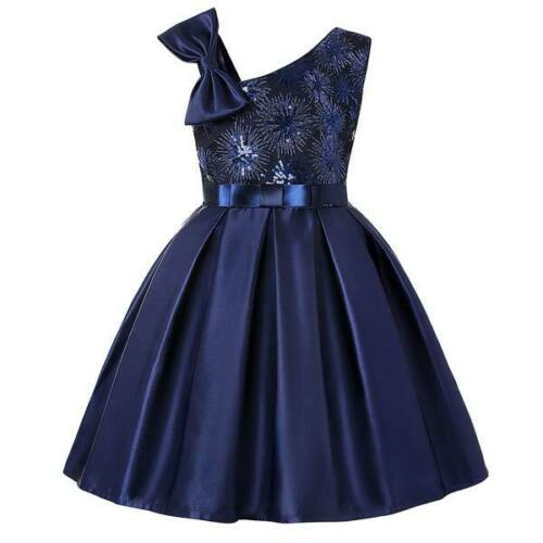 Formal bridesmaid party tutu flower dresses kid girl wedding princess dress baby