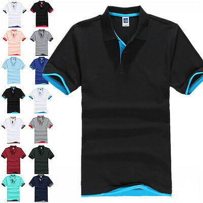 2017 Summer Men's Short Sleeve Golf Polo T-Shirt MultiColors Asia Size M-3XL
