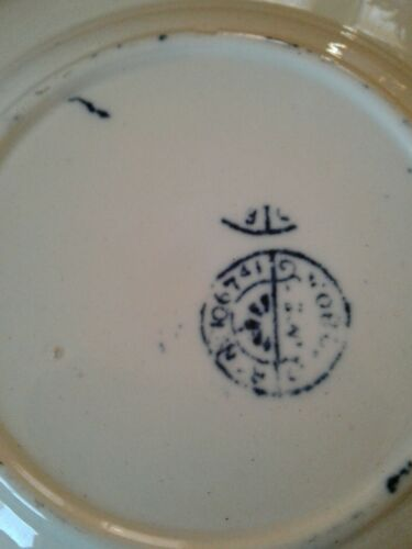 /& Sons dog Antique Child/'s Plate or bowl Aesthetic Little May Transferware C.A