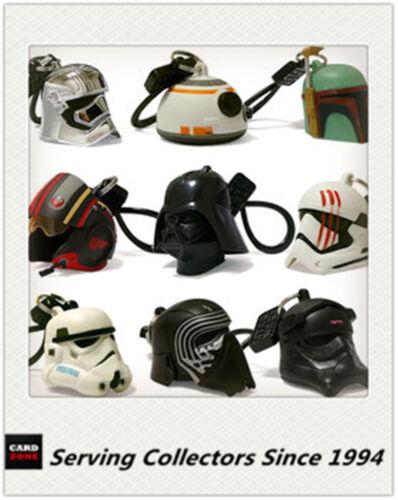 Disney Star Wars Key Ring//chain Helmet Bag Clips Full Set 9 -Australia-Value++