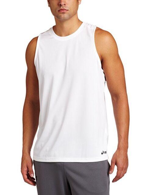 48cb7f78d3380 ASICS Men s Ready Set Singlet 2xs White Tank Top Shirt for sale ...