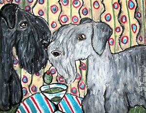Cesky-Terrier-Dog-Art-Giclee-Print-Signed-by-Artist-Kimberly-Helgeson-Sams-8x10