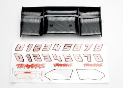 5446G Carbon-Look Traxxas Heckflügel schwarz Revo
