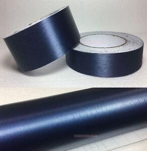 Decor-Dark-Blue-Car-Home-Metal-Matte-Brushed-ALUMINUM-Vinyl-Wrap-Sticker-Tape-AB