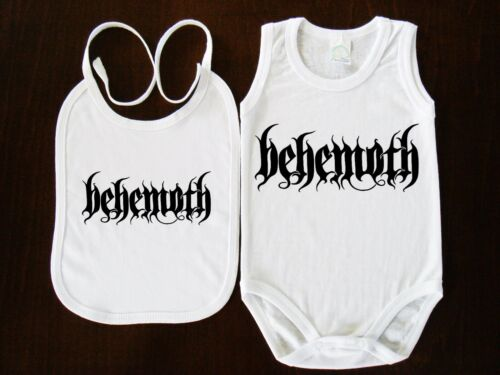 Behemoth  Rock Band Logo BABY BODY+BIBS BODYSUIT KURZARM //LANGARM//OHNE ARM VEST