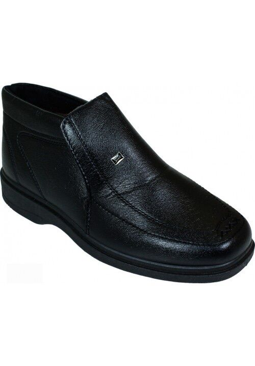 New Men Dress/Casual Leather Boots Black Man Made Leather Dress/Casual Size 8.5 180782