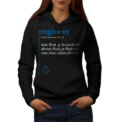 Selbstbewusst, Befangen, Gehemmt, Unsicher, Verlegen Wellcoda Engineer Excited Womens Hoodie, Funny Casual Hooded Sweatshirt Angenehme SüßE