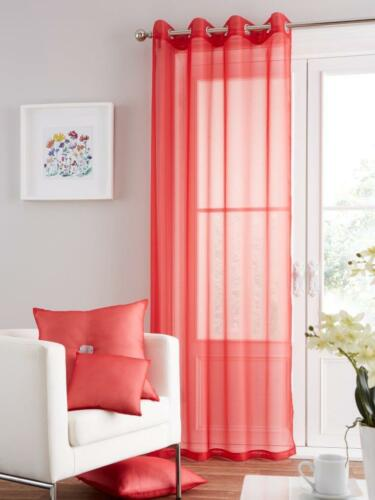 Net Voile Curtains Damask 90 Drop UAREHOME Eyelet Ring Top Voile Curtain Panel