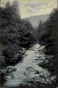 Schwarzatal-Blankenburg-vecchia-AK-Turingia-per-1920-partita-a-N-il-fiume-Schwarza
