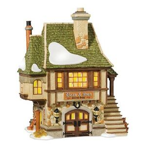 Dept-56-Dickens-039-Village-034-BEAN-AND-SON-SMITHY-SHOP-034-NEW-MIB