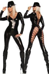 Sexy-Caty-Katzen-Wetlook-Overall-Gogo-Kostuem-034-Catwoman-Batwoman-Batcat-034