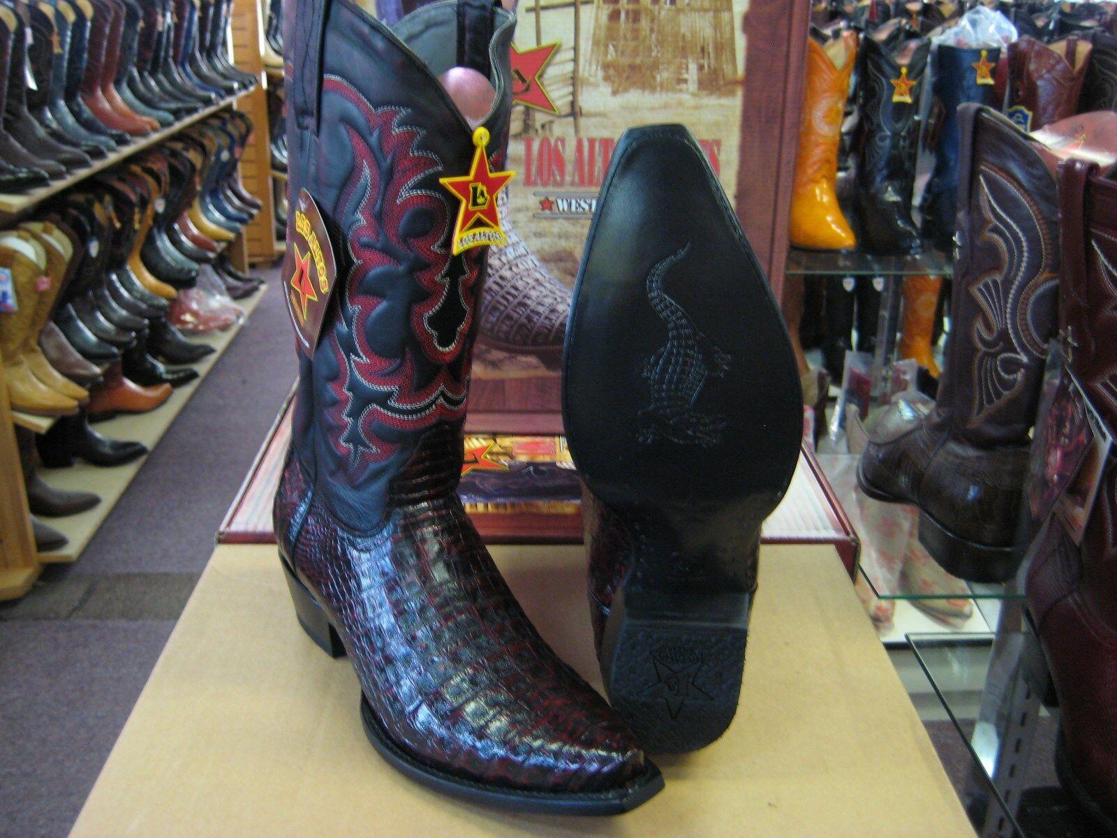 Los altos mujeres Cereza Original Bota Puntera Cocodrilo Western Cowboy Snip (M) L91181
