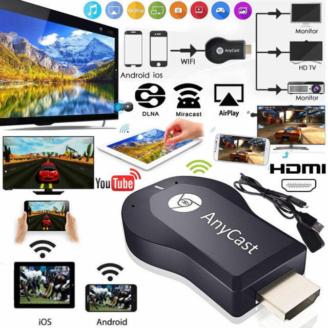AnyCast DLNA Miracast 1080P HDMI Wifi Display Receiver Dongle Android TV
