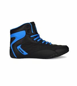 IRON-TANKS-ORION-GENESIS-HIGH-TOPS-GYM-SHOES-BODYBUILDING-POWERLIFTING-S127-BLUE
