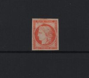 FRANCE-YVERT-5-SCOTT-7-034-CERES-40c-ORANGE-1850-034-MH-VF-SIGNED-R875