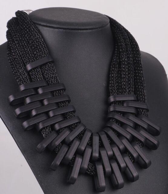 Hot Fashion Woman Black geometr chain  Bib Statement Chunky Pendant Necklaces 0