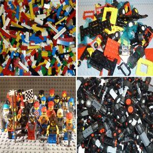 LEGO-Set-Legosteine-Bausteine-Platten-Figuren-Tueren-Fenster-Reifen-Raeder