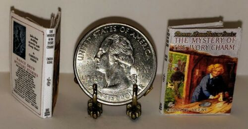 1:12 SCALE MINIATURE BOOK THE MYSTERY OF THE IVORY CHARM NANCY DREW ILLUSTRATED