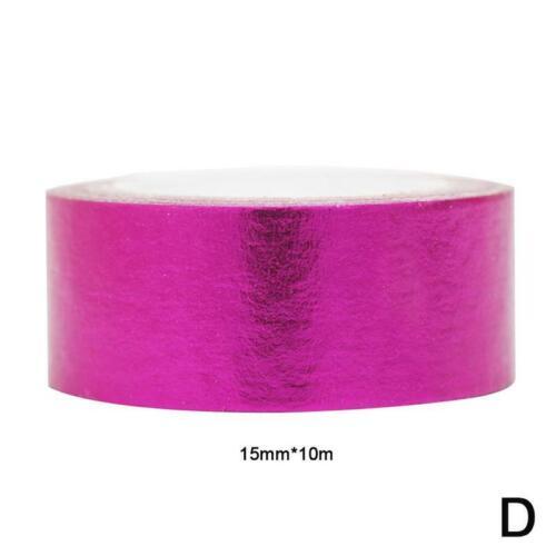 2PCS Folie Washi Tape Rose Gold Kupfer Metallic Masking Selbstklebende Branding
