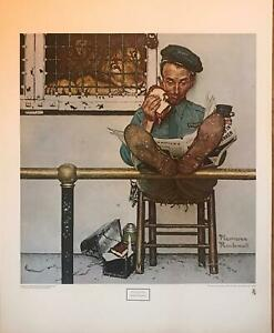 Norman Rockwell The Lion's Share Saturday Evening Post  22.5 x 29