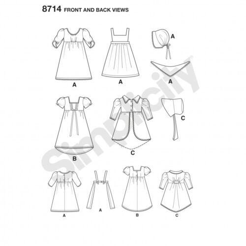 Free UK P/&P Simplicity Sewing Pattern 8714 FP Simplicity-8714-OS