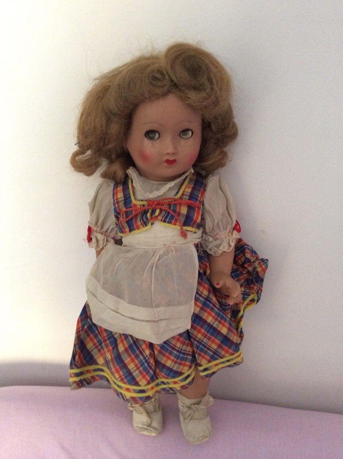 Rarissima bambola biscuit con sonaglio anni 50 da collezione