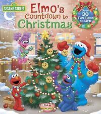 Lift-The-Flap: Elmo's Countdown to Christmas (Sesame Street) by Naomi Kleinberg (2016, Board Book)