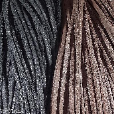 5 Metros de Cuero Gamuza 3mm a Escoger Leder Leather Cuir Cuoro Leer Perles