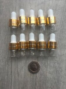 1ml Glass Dropper X10 Bottle Foundation Tester Younique Sample Makeup Pipette Uk