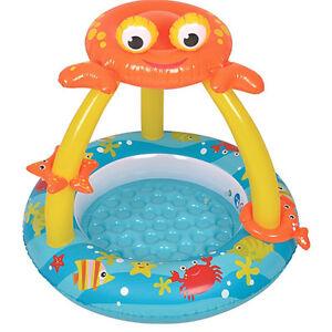 Piscina bambini forma granchio 100x h95cm gonfiabile mare bimbi nuovo vasca new ebay - Piscine per bambini ...