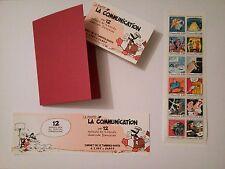 Carnet de 12 timbres 12 auteurs de BD France1988 Bilal Moebius Forest Tardi ...