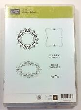 Stampin' Up! Vintage Labels Clear Stamp Birthday Best Wishes For You