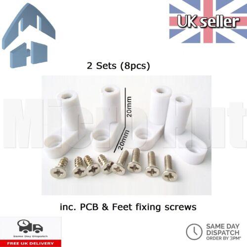 L tipo de fijación de montaje de PCB pies de plástico 20mm con Tornillos 16 un. 2 conjuntos//8 un