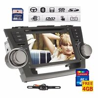 8 Car Dvd Player Gps Navigation For Toyota Highlander 2008 2009 2010 2011 2012