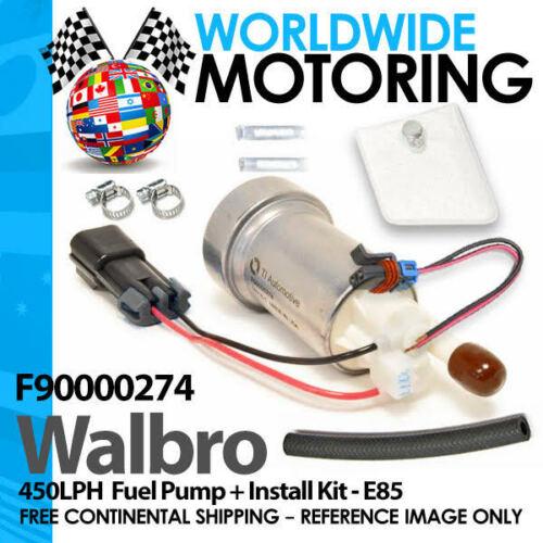 GENUINE WALBRO F90000274 E85 RACING FUEL PUMP 450 LPH HIGH PRESSURE PUMP /& KIT