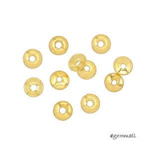 40 Plaqué Or Argent Sterling Simplicité Bead Cap 3 Mm #99204-afficher Le Titre D'origine