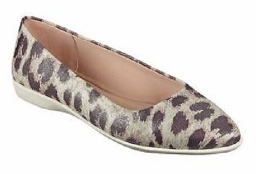 Easy Spirit Madella pointy toe flats taupe leopard flexible sz  5.5 Med DEFECT
