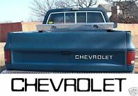 81-88 Fleet Side Chevy Pickup Tailgate Decal Viny Letters (82,83,84,85,86,87)